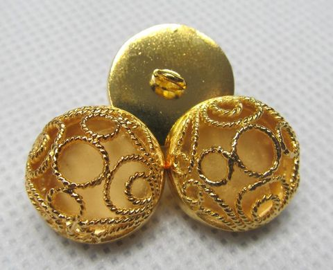Buttons Hierarchical Gold